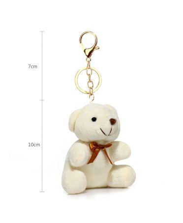 Anna Grace přívěšek / klíčenka white teddy bear 1017 AGC1017_WHITE