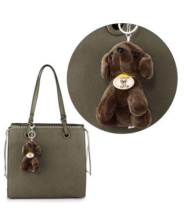 Anna Grace přívěšek / klíčenka dark grey pretty dog 1019 AGCK1019K_DARK_GREY