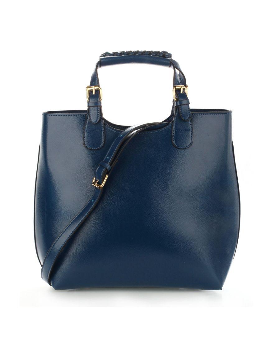 Anna Grace námořnicky modrá tote kabelka do ruky i přes rameno 267 AG00267_NAVY
