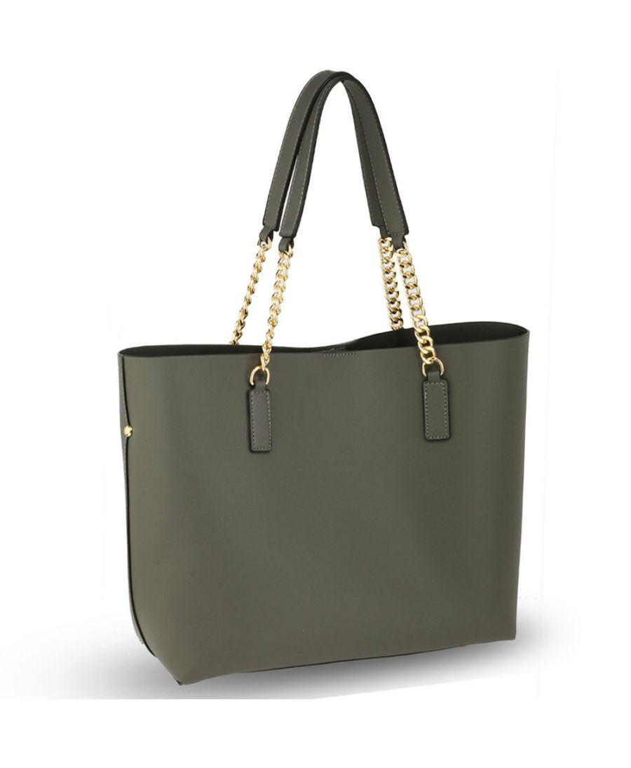 Anna Grace šedá luxusní shopper kabelka s řetízkem 664 - kabelky ... 90e47da4f43