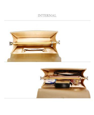 Anna Grace společenská kabelka zlaté psaníčko 342 AGC00342_GOLD