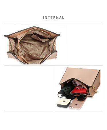 Anna Grace béžová módní crossbody kabelka 596 AG00596_NUDE