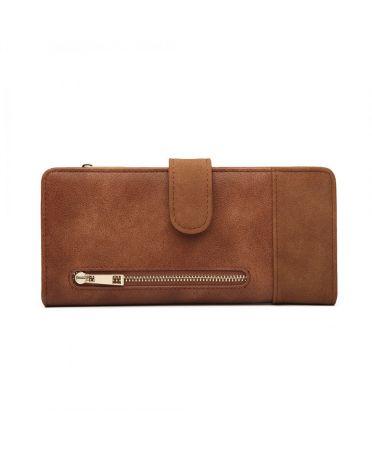 Miss Lulu elegantní hnědá peněženka 6883 LN6883_BN