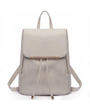 Miss Lulu elegantní světle šedý batoh 1669 E1669_LGY