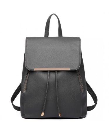 Miss Lulu elegantní tmavě šedý batoh 1669 E1669_GY