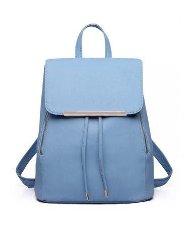 Miss Lulu elegantní světle modrý batoh 1669 E1669_LBE