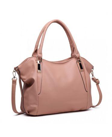 873a8a7d2 Miss Lulu luxusní lehká měkká nude hobo kabelka přes rameno S1716_NE