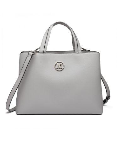 Miss Lulu šedá noblesní business kabelka 6820 LT6820_GY
