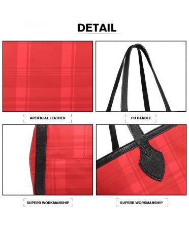 Miss Lulu stylová oboustranná kabelka BLACK-RED 6825 LD6825_RD