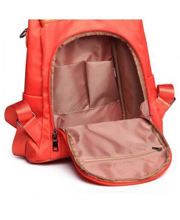 Miss Lulu kabelkový batoh oranžový se zadním vstupem 1903 LG1903_OE