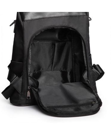 Miss Lulu kabelkový batoh černý se zadním vstupem 1903 LG1903_BK