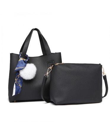 Miss Lulu černá střední kabelka s pouzdrem 1913 E1913_BK