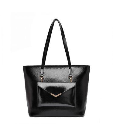Miss Lulu černá tote kabelka s psaníčkem 1916 E1916_BK