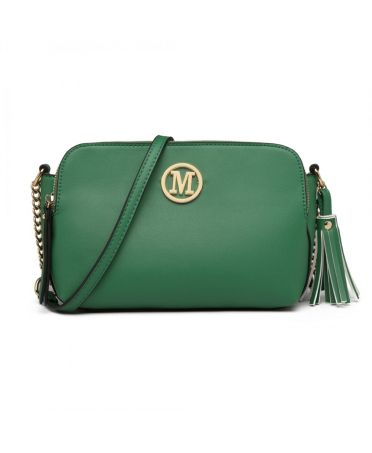 Miss LuLu zelená crossbody kabelka s řetízkem 1869 LG1869 GN aa41afb26d4