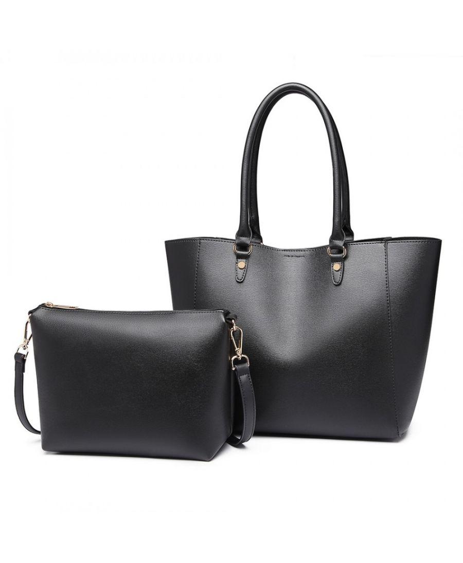 Miss Lulu set 2v1 velká kabelka s pouzdrem SIMPLY BLACK 6895 LH6895 BK 33cb2f102e2