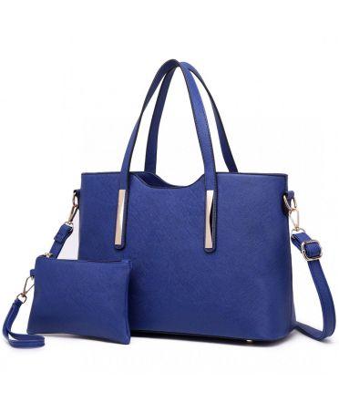 Miss Lulu námořnicky modrá shopper kabelka s pouzdrem 1719 S1719 NY