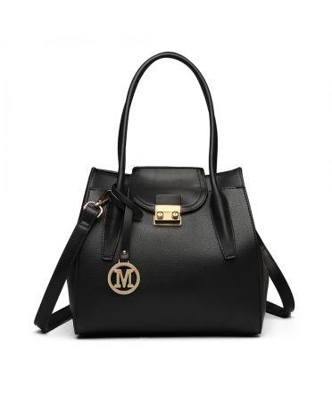 Miss Lulu černá elegantní rozšířitelná tote kabelka 6875 LT6875_BK