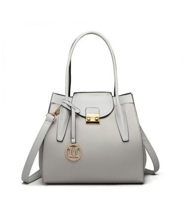 Miss Lulu elegantní šedá rozšířitelná tote kabelka 6875 LT6875_GY