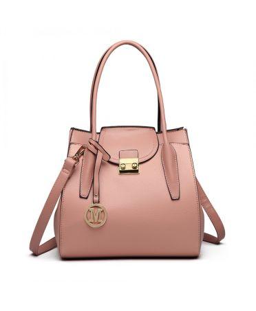 Miss Lulu elegantní růžová rozšířitelná tote kabelka 6875 LT6875_PK