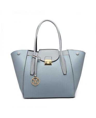 Miss Lulu elegantní světle modrá rozšířitelná tote kabelka 6875 LT6875_BE