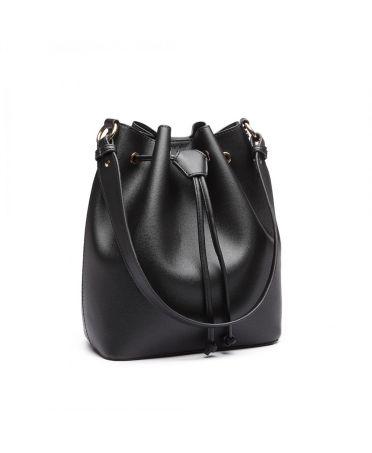 Miss Lulu elegantní černá hobo kabelka 6894 LH6894_BK