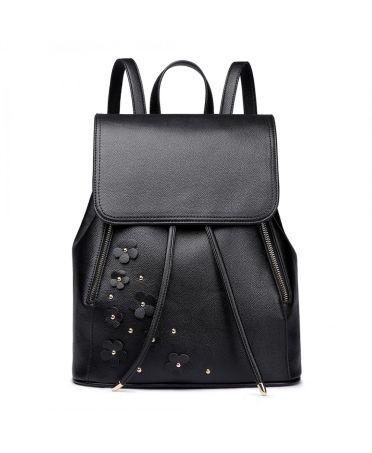 Miss Lulu romantický fashion batoh BLACK FLOWERS 6808 LH6808 BK f9c842f628