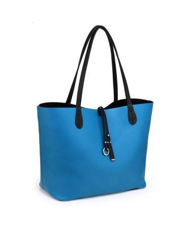 Anna Grace velká oboustranná kabelka černá-modrá AG00567_BLACK/BLUE