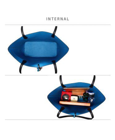 Anna Grace set velká oboustranná kabelka černá-modrá 567 AG00567_BLACK/BLUE