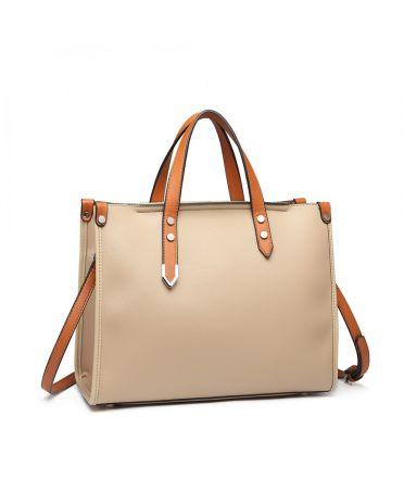 Miss Lulu kabelkový set 2 v 1 business KHAKI 1910 LN1910_KI