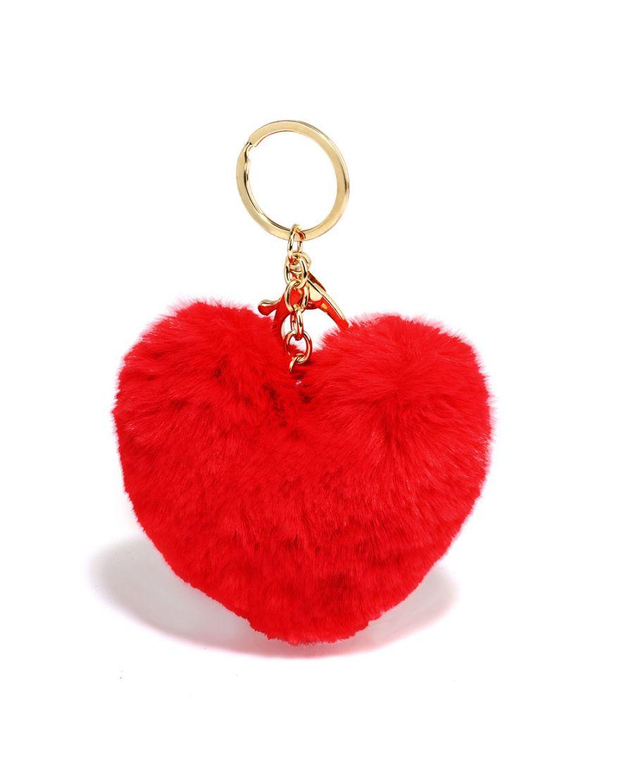 Anna Grace přívěšek / klíčenka červená pompom heart 1014 AGC1014_RED