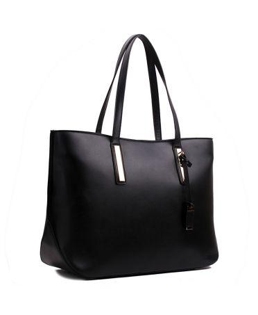 Miss Lulu černá tote kabelka 1435 L1435 BK