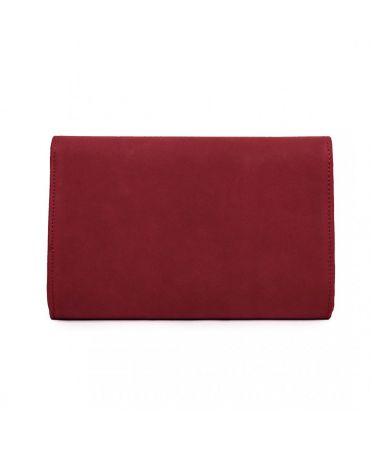 Miss Lulu červené psaníčko se sametovým povrchem 1756 LH1756_RD