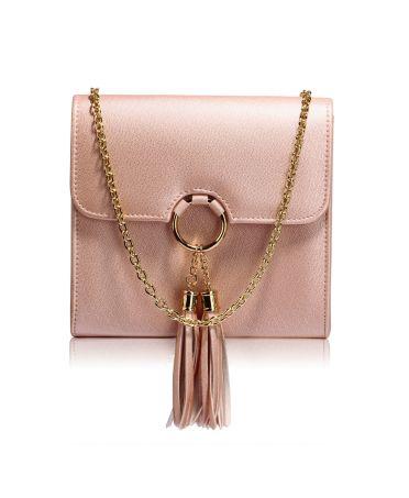 Anna Grace malá růžová kabelka psaníčko se střapcem 348 AGC00348_PK