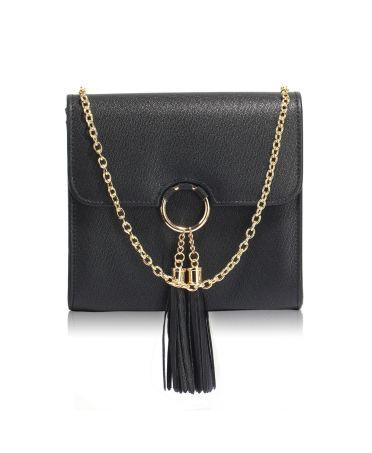 Anna Grace malá černá kabelka psaníčko se střapcem 348 AGC00348_BLACK