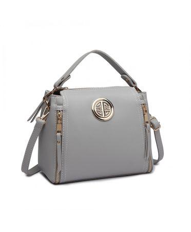 Miss Lulu šedá menší kabelka 1851 E1851_GY