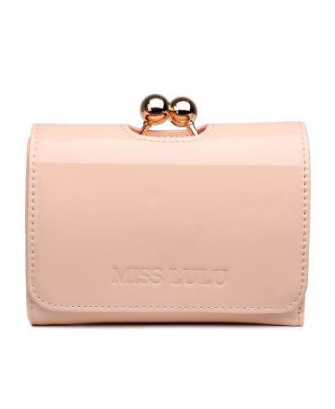 Miss Lulu dámská lakovaná peněženka starorůžová 1688 LP1688_NE
