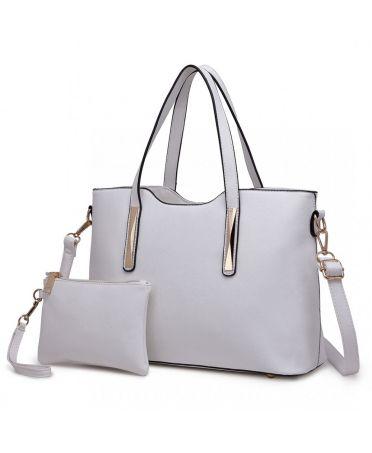 bc44fea024 Miss Lulu bílá shopper kabelka s pouzdrem 1719 S1719 WE