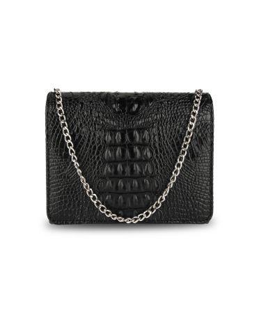 Anna Grace černé psaníčko kabelka s efektem krokodýlí kůže 350A AGC00350A_BLACK