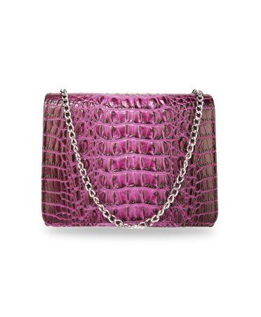 Anna Grace psaníčko fialová kabelka s efektem krokodýlí kůže 350A AGC00350A_PURPLE