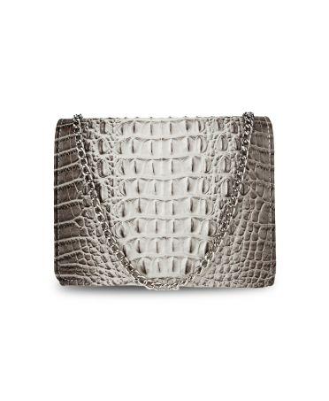 Anna Grace psaníčko světle šedá kabelka s efektem krokodýlí kůže 350A AGC00350A_LIGHT_GRAY