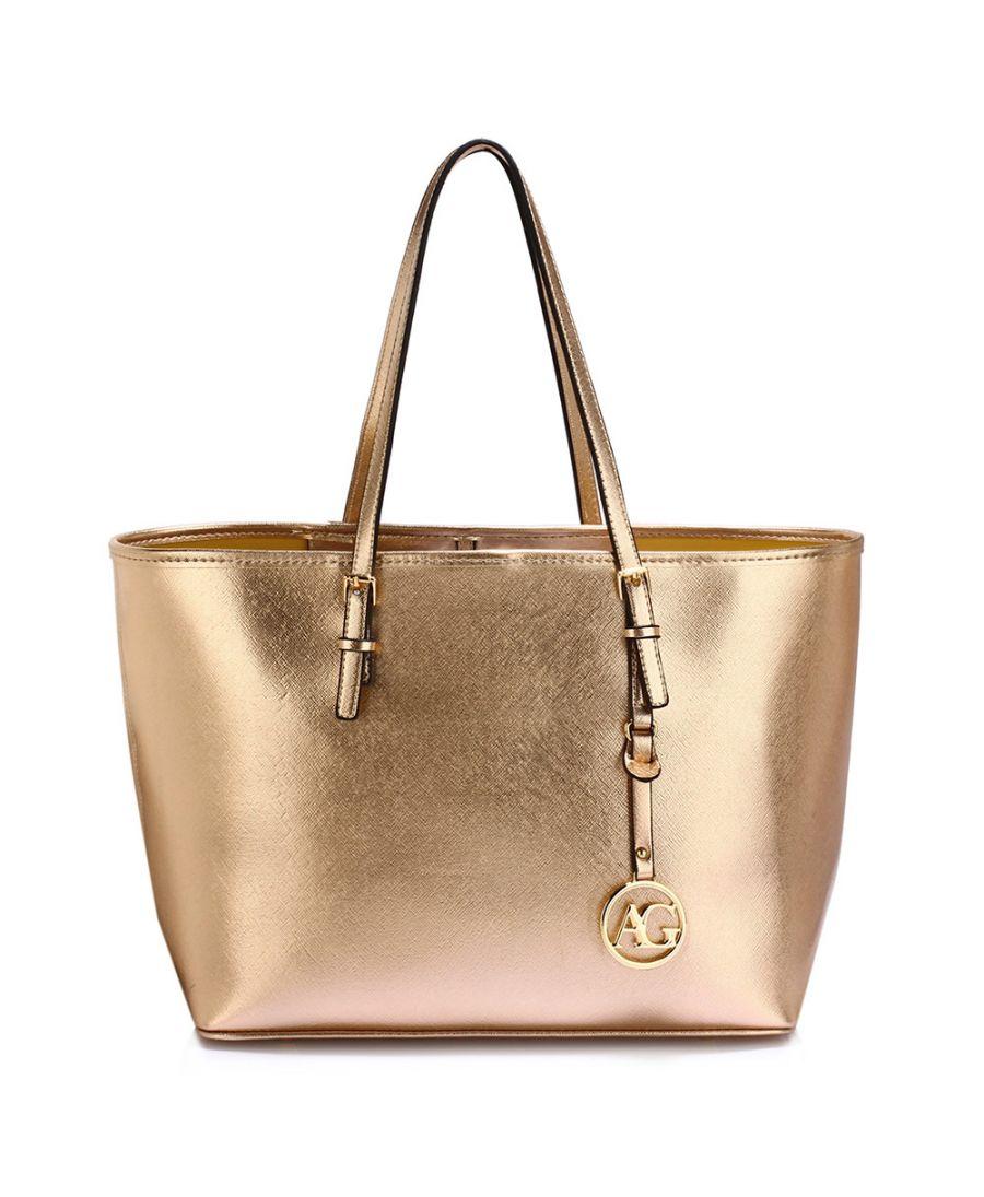 Anna Grace zlatá kabelka shopper velká 297 LS00297_GOLD