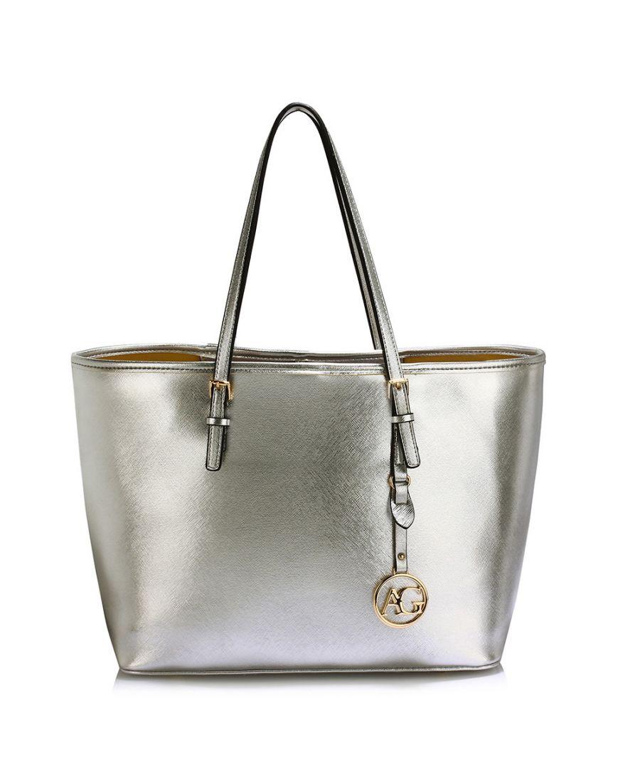 Anna Grace stříbrná kabelka shopper velká 297 LS00297_SILVER