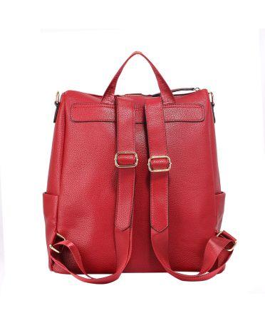 1d0583218d Anna Grace vínově červený elegantní batoh větší 523 AG00523 BURGUNDY