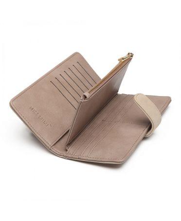 Miss Lulu elegantní šedá peněženka 6883 LN6883_GY