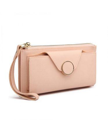 Miss Lulu dámská peněženka korálově růžová 6884 LN6884_PK