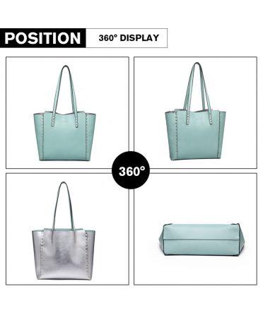 Miss Lulu modrá shopper kabelka 1940 LT1940_BE