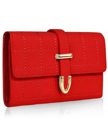 LS Fashion červená dámská peněženka 1075A LSP1075A_RED