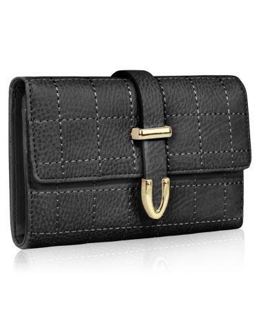 LS Fashion černá dámská peněženka 1075A LSP1075A_BLACK