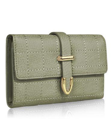LS Fashion šedá dámská peněženka 1075A LSP1075A_GRAY