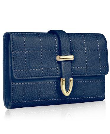 LS Fashion modrá dámská peněženka 1075A LSP1075A_NAVY